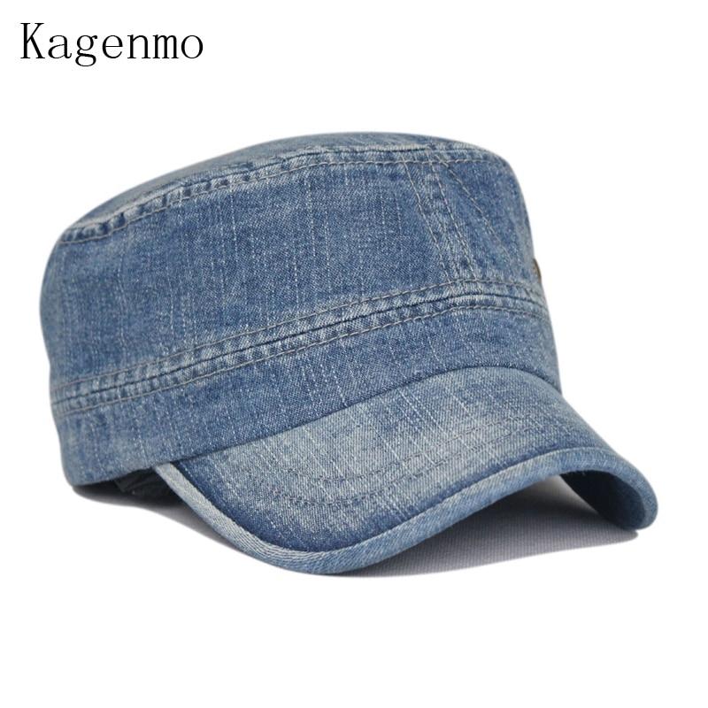 Kagenmo Fashion mosás öregkori farmer hadsereg kalap szabadidős - Ruházati kiegészítők - Fénykép 2