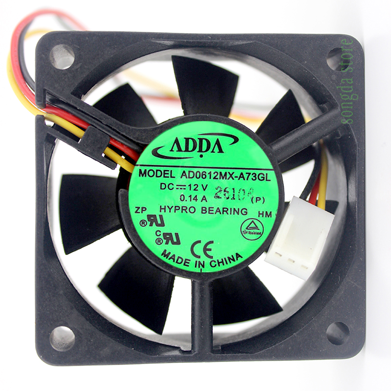 ADDA AD0612MX-A73GL 6CM DC 12V 0.14A 6025 60x60x25mm Cooling <font><b>Fan</b></font> image