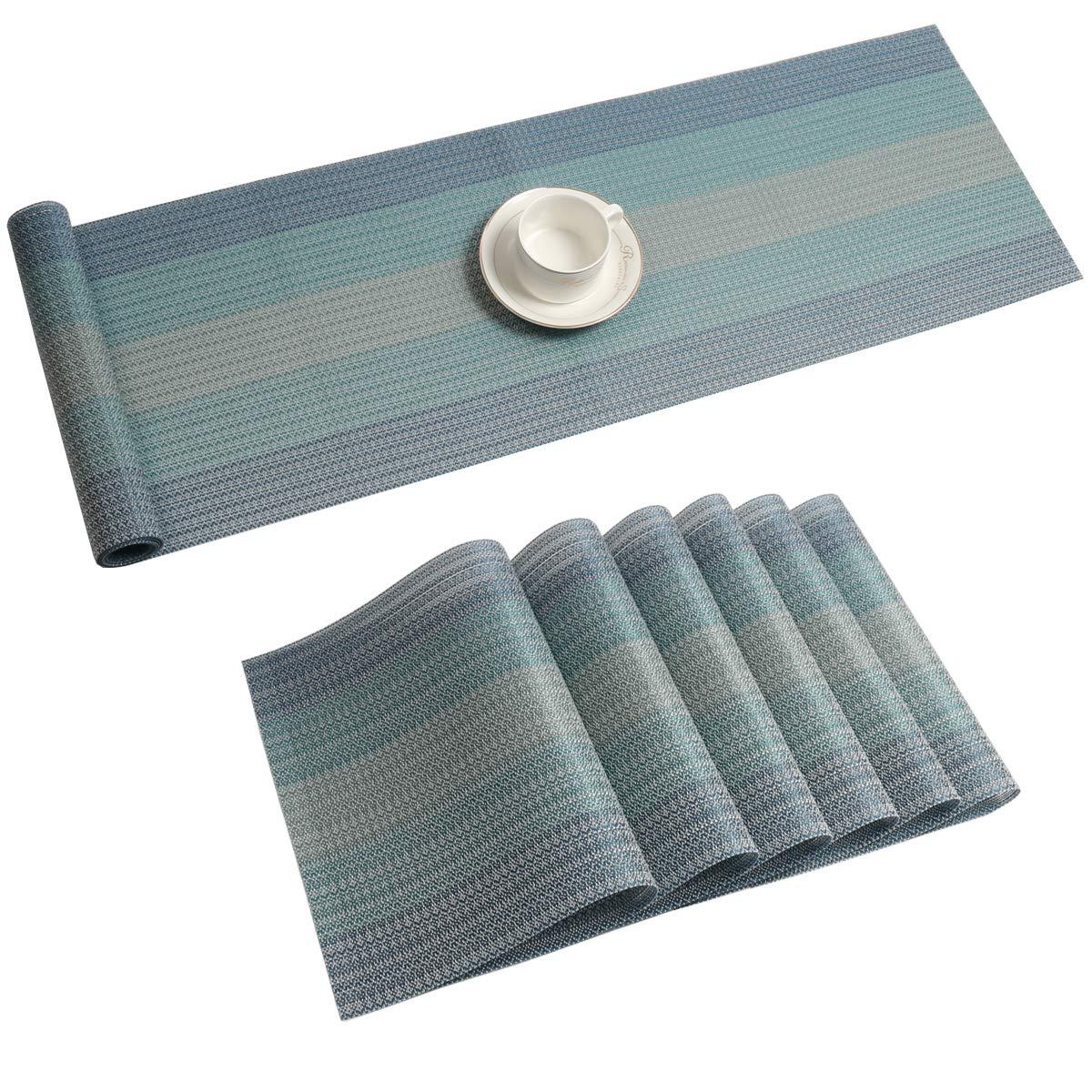 Table Runner Set Washable Heat
