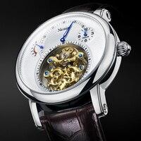 Nesun luxo marca superior masculino oco tourbillon relógio automático mecânico relógios de pulso masculino safira à prova dwaterproof água relogio masculino