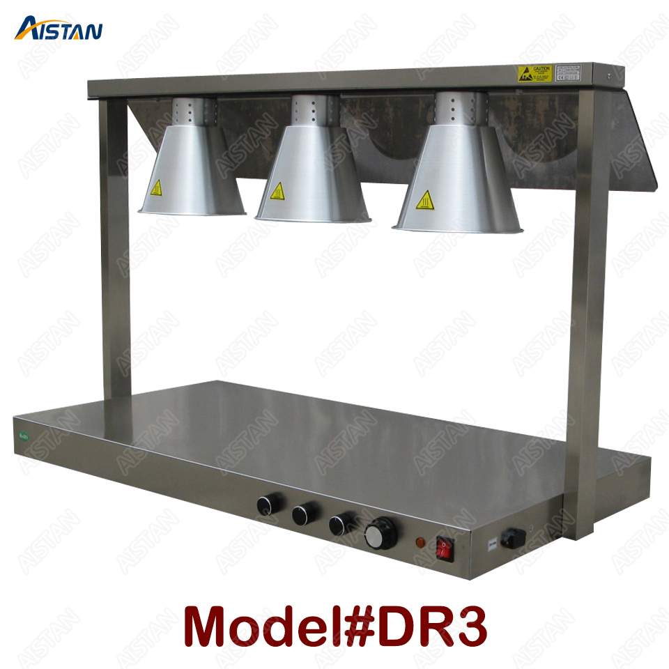 DR3/DR4 electric counter top food warmer heating lamp for buffet and restaurant 1