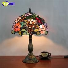 FUMAT lampa stołowa lampa witrażowa led light lampka nocna duszpasterska salon Bar lampy stołowe świąteczna lampa na biurko domu