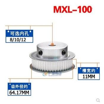 1 шт. MXL типа 100T шаг шкив ГРМ 8/10/12 мм внутренний диаметр 10 мм ширина пояса 2,032 мм Шаг шкивы ГРМ