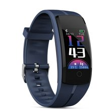 Dropshipping QS100 Inteligente pulseira relógio Inteligente pressão Arterial/bracelete Rastreador IOS Android smart pulso Heart rate Monitor de fitness(China)