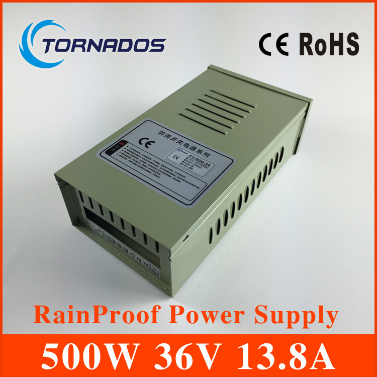 36V 500W 13.8A Outdoor rainproof power supply for Led FY-500-36