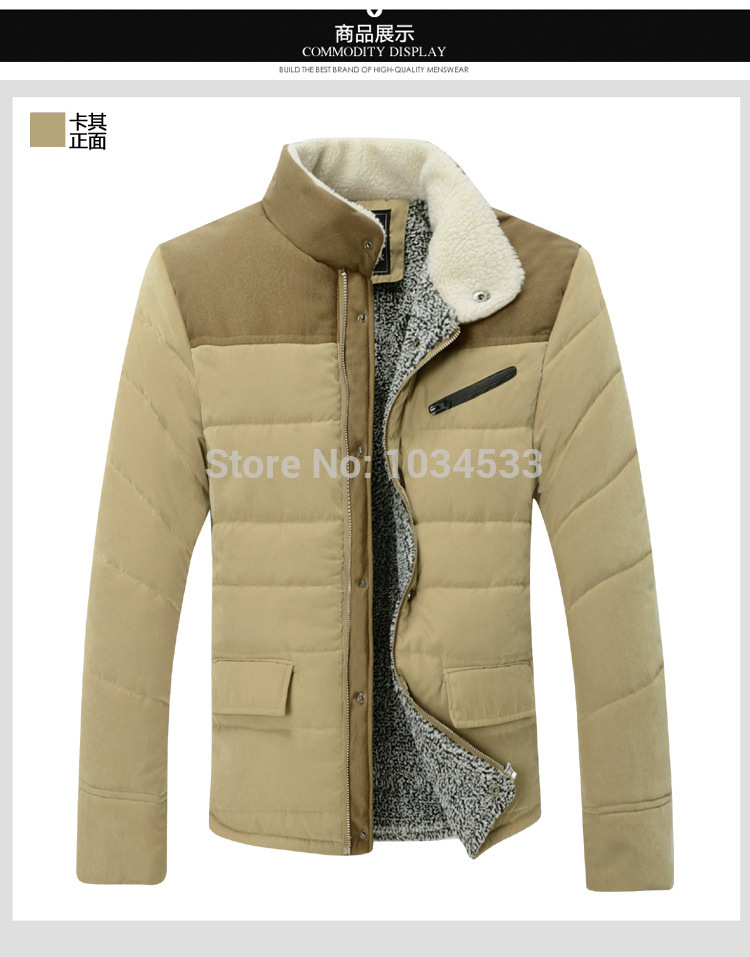 Men's Cashmere Fur Jacket CLASSIC Vintage Soft Fleece Windbreaker Winter Warm Jacket Coat Fashion Turn-down Collar Padded
