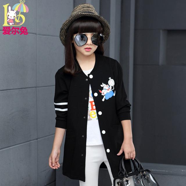 Ropa infantil femenina niño 2017 niño otoño ropa de manga larga niño prendas de vestir exteriores medio-larga trinchera primavera y otoño