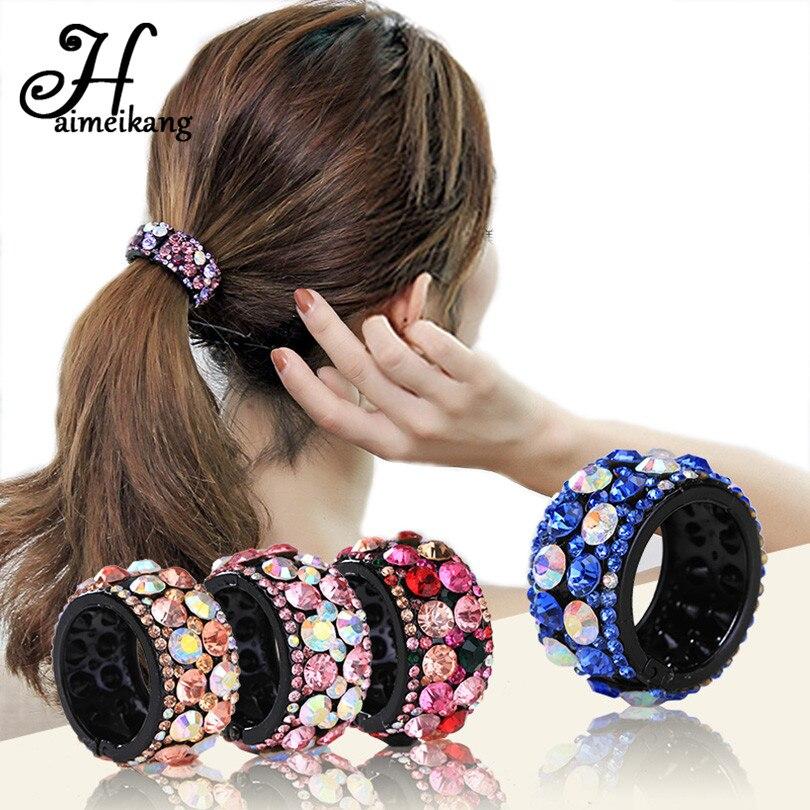 Haimeikang 1PC Shiny Rhinestone Horsetail Hairpin Hair Accessories for Girls Women Hair Clip Claws Crystal Barrettes   Headwear