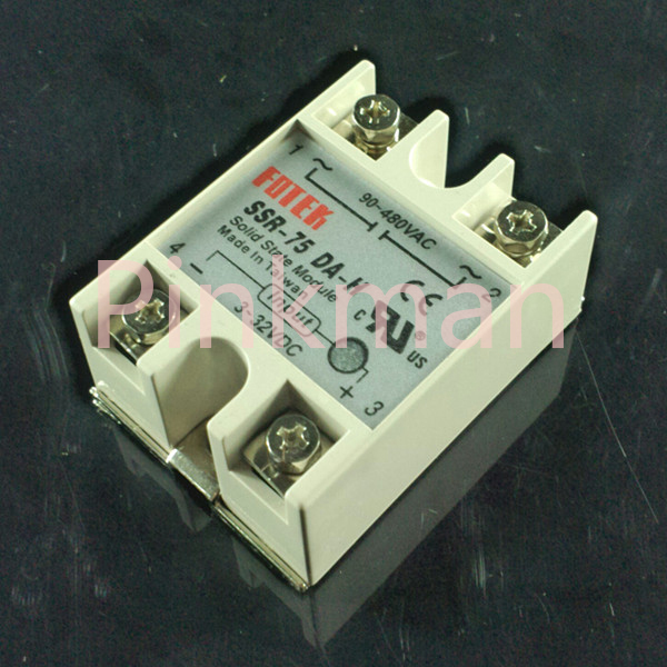 1 pc FOTEK 75DA-H Solid State Relay  SSR  Single Phase DC-AC normally open single phase solid state relay ssr mgr 1 d48120 120a control dc ac 24 480v