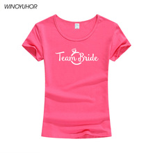 Team Bride T Shirt Women Short Sleeve O Neck Funny Graphic Slogan Tshirt Streetwear Top Casual Letter Printed Tee