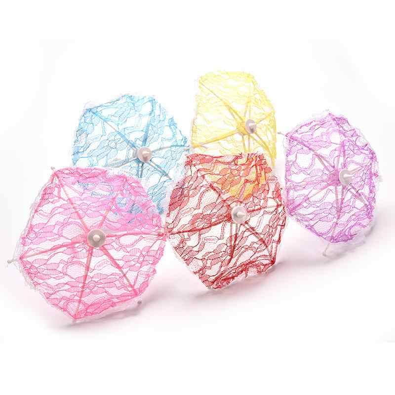 1 шт. Новое поступление хит продаж зонтик для девочек с кружевом для девочек классический кукольный домик мебель куклы аксессуары случайные цветы