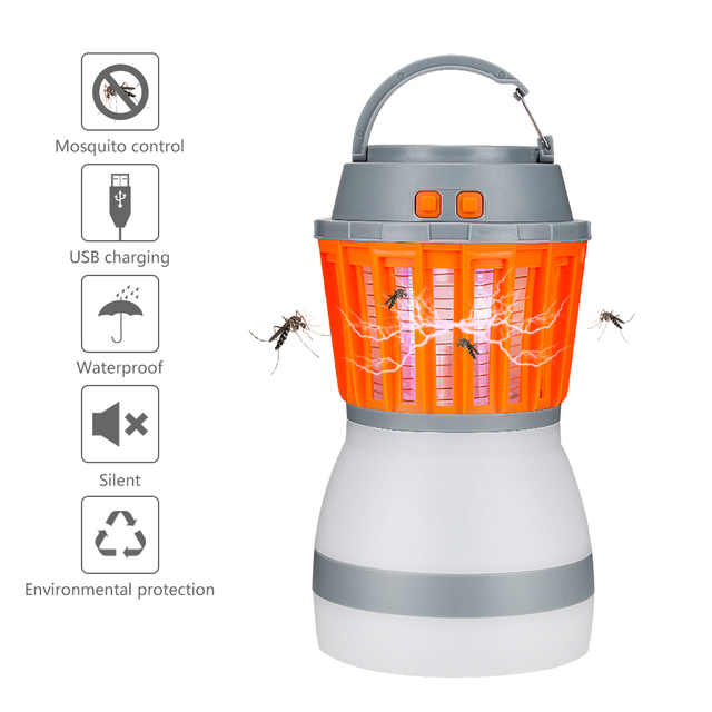 Portable LED Outdoor Waterproof Camping Light USB Charging Mosquito Killer Lamp Repeller Pest Insect Mosquito Killer