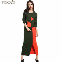 Women S 2016 Autumn Winter Patchwork Cashmere Blend Knitted Pullovers Sweater Long Skirt Two Pieces Sets