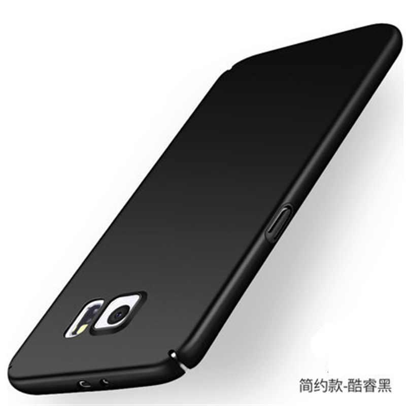 Voor Samsung S6 Rand Case Ultradunne Slim Back Hard PC Telefoon Beschermhoes Case Voor Samsung Galaxy S6 S 6 Rand Plus + Gift