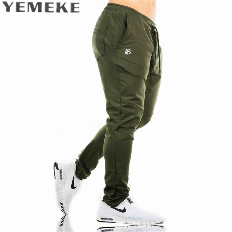 YEMEKE Pants Casual Sweatpants Solid Fashion high street Trousers Pants Men Joggers oversize brand high quality plaid pants