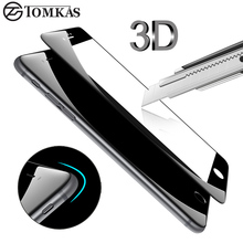 TOMKAS 3D Edge Tempered Glass For iPhone 7 7 Plus Full Cover 3D Round Curved Protective Premium Screen Protector Film Glass
