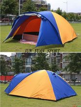1x 320*210*145cm Large doule layer tent 2 room for 3-4 person outdoor camping hiking hunting Ice fishing tourist emergency tent