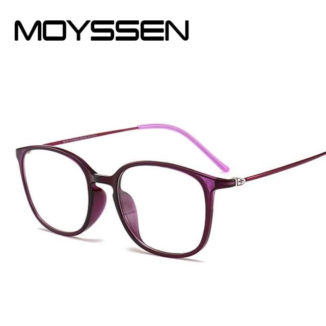 7345ded6d67a MOYSSEN Women Super Big Geek Glasses Frame Tungsten Carbon Steel Eyewear  Men Vintage Ultra Thin Arm Nerd Myopia Eyeglasses