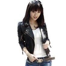 New Fashion Leather Jacket Women Jacket Slim Biker Motorcycle Zipper Girl PU Leather Jaquetas De Blazer Outwear Jacket Coat