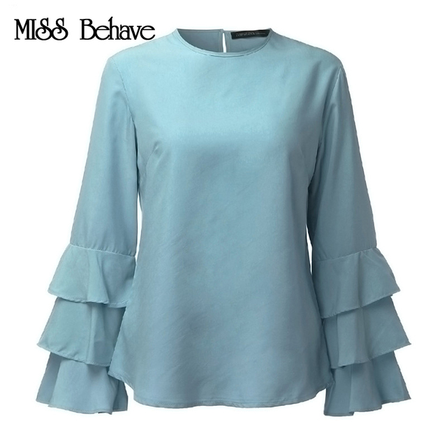 Elegant Chiffon O-Neck Loose Tops
