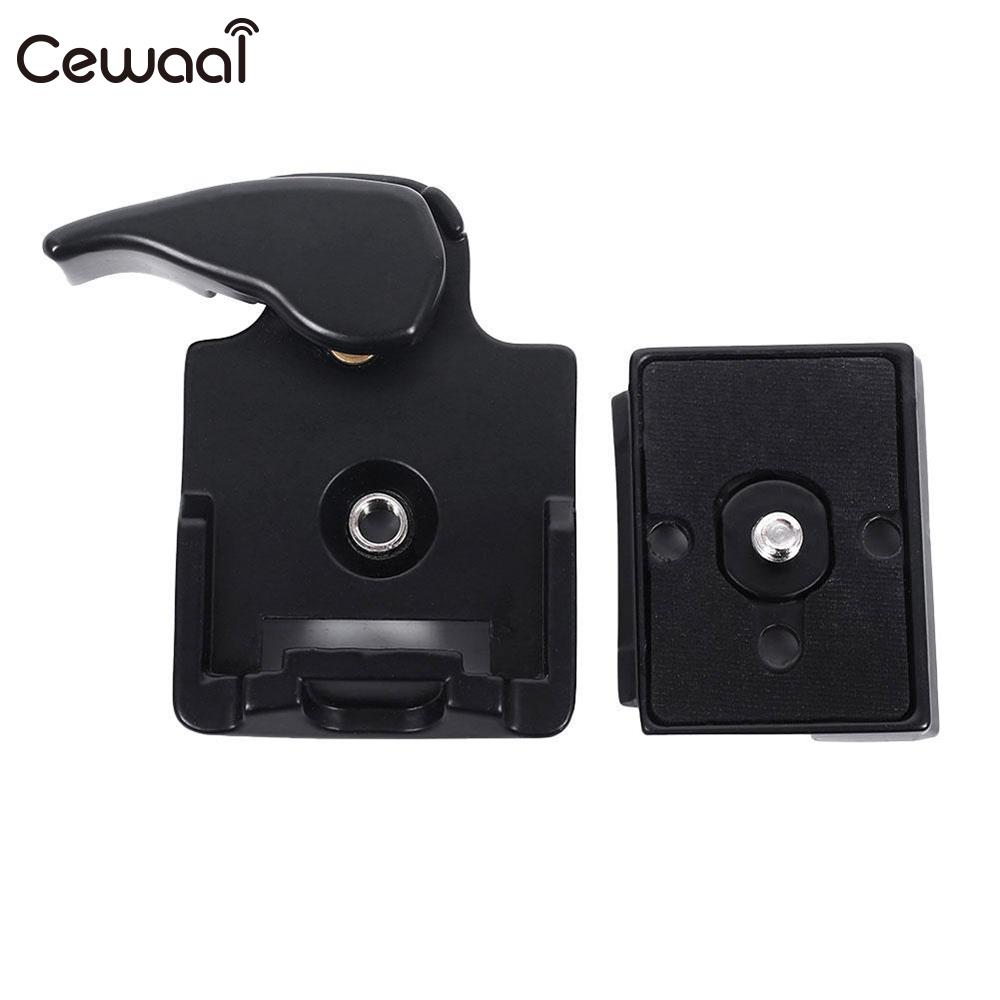 Cewaal Camera 323 Quick Release Clamp Mount Adapter Tripod Monopods DSLR with Manfrotto 200PL-14 Compat Plate