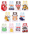 4pcs/lot wholesale cartoon t shirts child t shirt baby summer wear infant t-shirt  boys t shirts kids Tees children vest