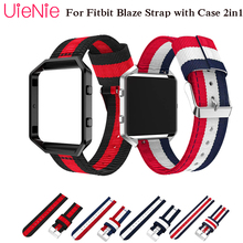 For Fitbit Blaze smart watch frontier/Classic nylon bracelet strap with case 2in1 wristband
