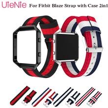 купить For Fitbit Blaze smart watch frontier/Classic nylon bracelet For Fitbit Blaze watch strap with case 2in1 watch wristband strap по цене 295.37 рублей