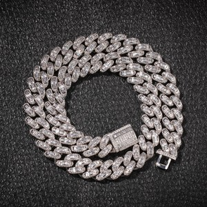 Image 4 - BLING KING Luxury Iced Cubic Zirconia Miami Cuban Link Chain สร้อยคอ Hiphop Sqaure CZ แฟชั่นคุณภาพสูงเครื่องประดับ