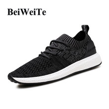 66b305256caeb BeiWeiTe Autumn Men s Light Running Shoes Breathable Jogging Flyknit Sports  Sneakers Man Outdoor Walking Ultra Boost