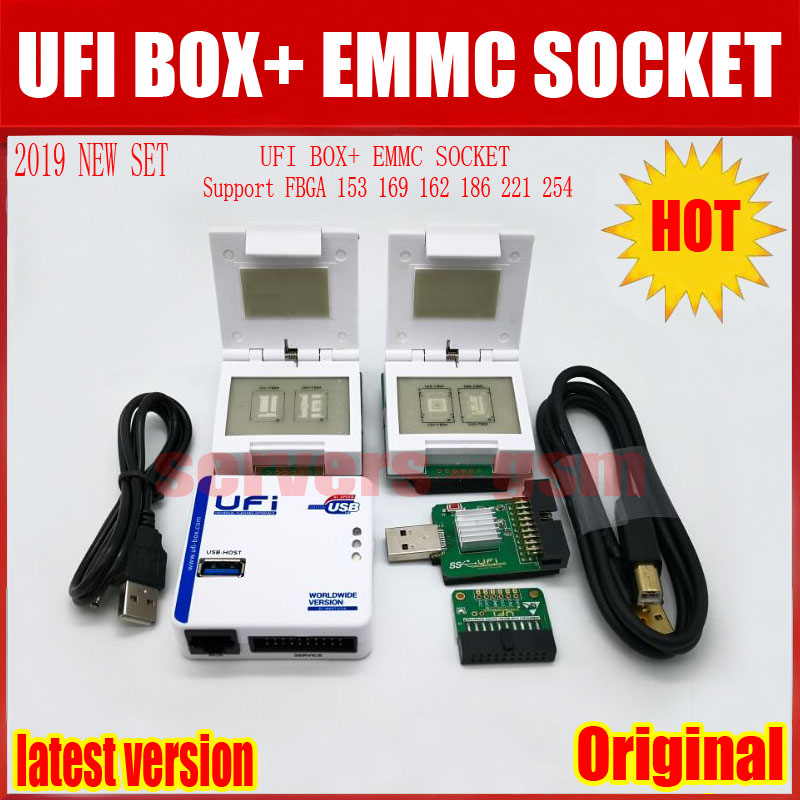 New 2019 original UFI Box /Ufi Box Support FBGA 153/169/162/186/221 254 ful  EMMC Service Tool Read EMMC user data, as well as re
