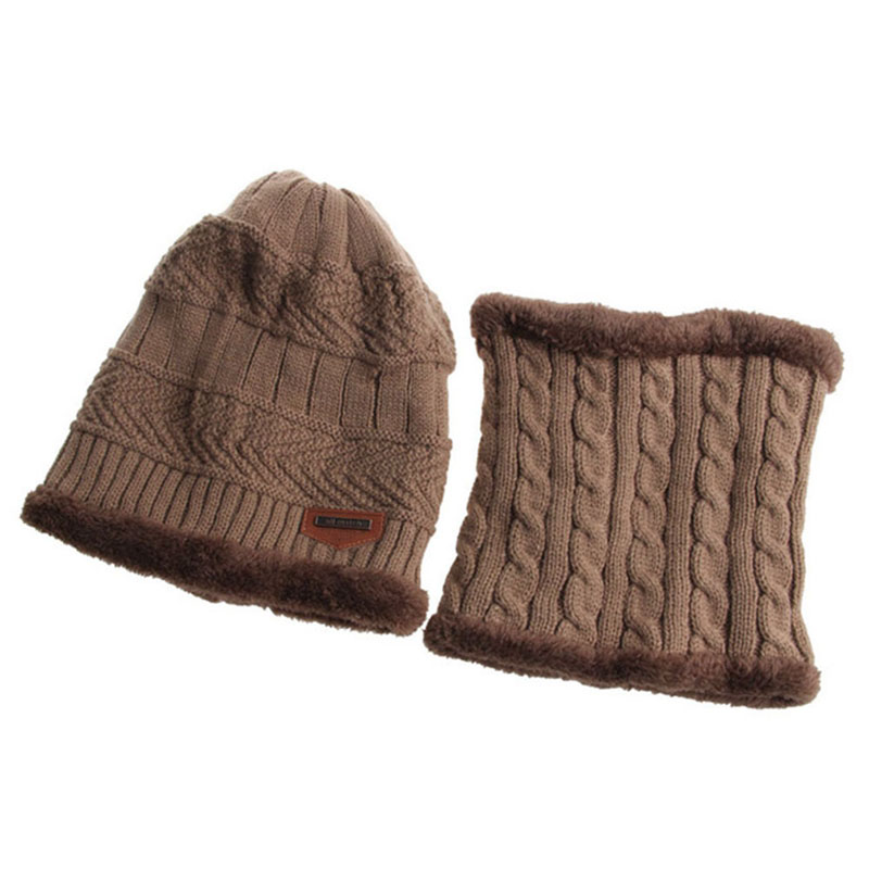 Warm Knitted Hat and Circle Scarf (15)