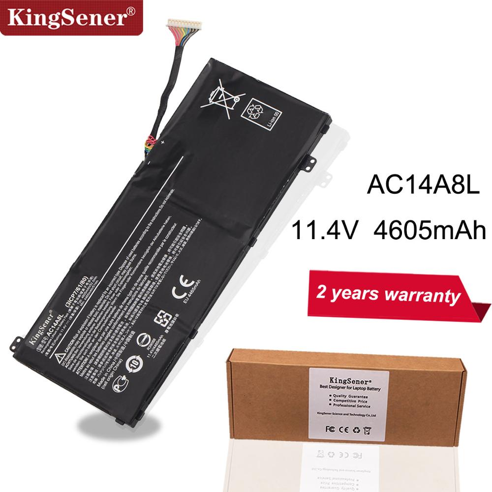 KingSener New AC14A8L Laptop Battery For Acer Aspire VN7-571 VN7-571G VN7-591 VN7-591G VN7-791G KT.0030G.001 11.4V 4605mAh
