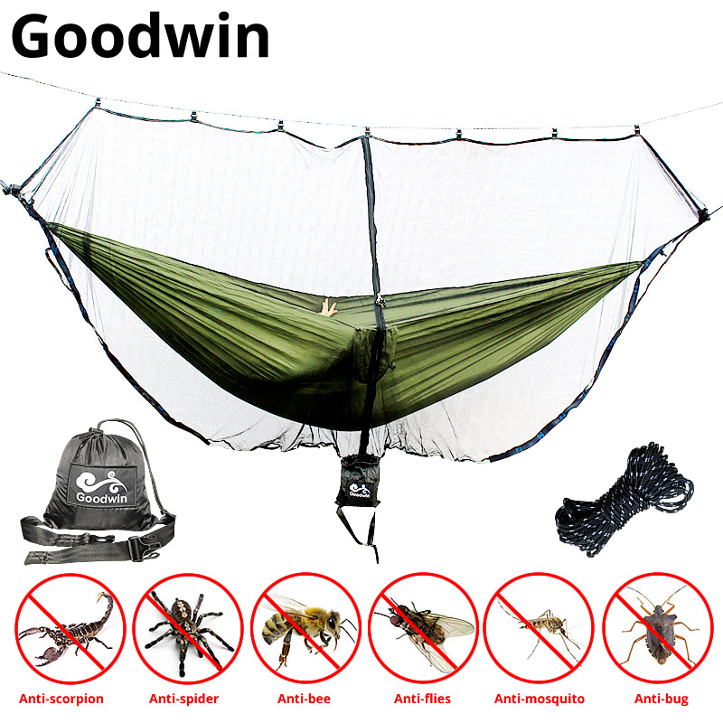 Fast Easy Setup Hammock Bug Net Fits ALL Camping Hammocks Compact SECURITY From Bugs Mosquitoes Exclusive Polyester Mesh
