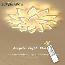 Современные светодиодные потолочные светильники, люстра из белого акрила для дома, гостиной, спальни, столовой