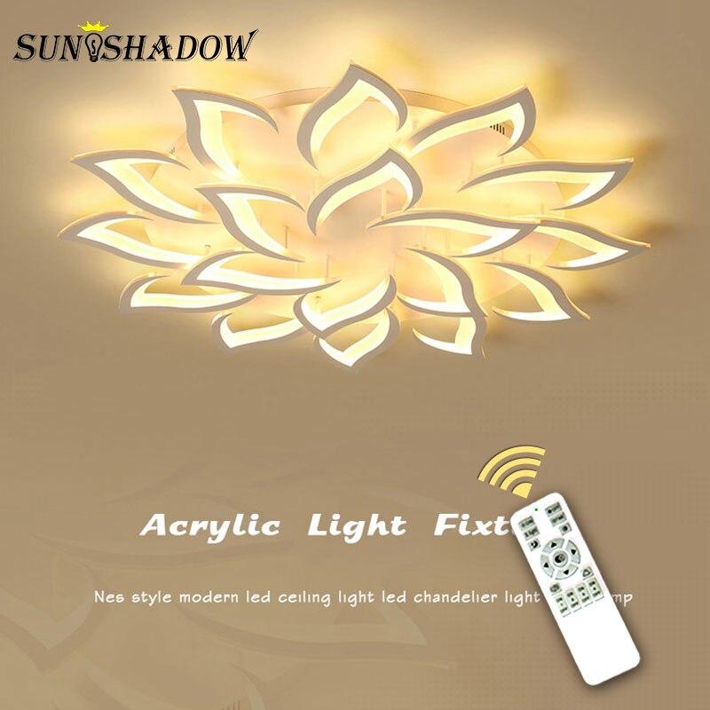 照明器具現代の Led シーリングは、家庭のリビングルームのベッドルームのダイニングルームの照明器具ホワイトアクリルシャンデリア天井ランプ  グループ上の ライト & 照明 からの シーリングライト の中 1