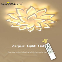 מנורות מודרני Led תקרת אור סלון בית חדר שינה חדר אוכל אור קבועה לבן אקריליק נברשת תקרת מנורה