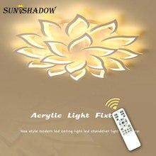Luminaires plafond moderne à LEDs lumière pour la maison salon chambre salle à manger luminaire blanc acrylique lustre plafonnier