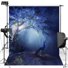 Flower Tree Fairy Vinyl Photography Background Fantasy peacock Oxford Backdrop For Wedding photo studio Props 6905 недорго, оригинальная цена