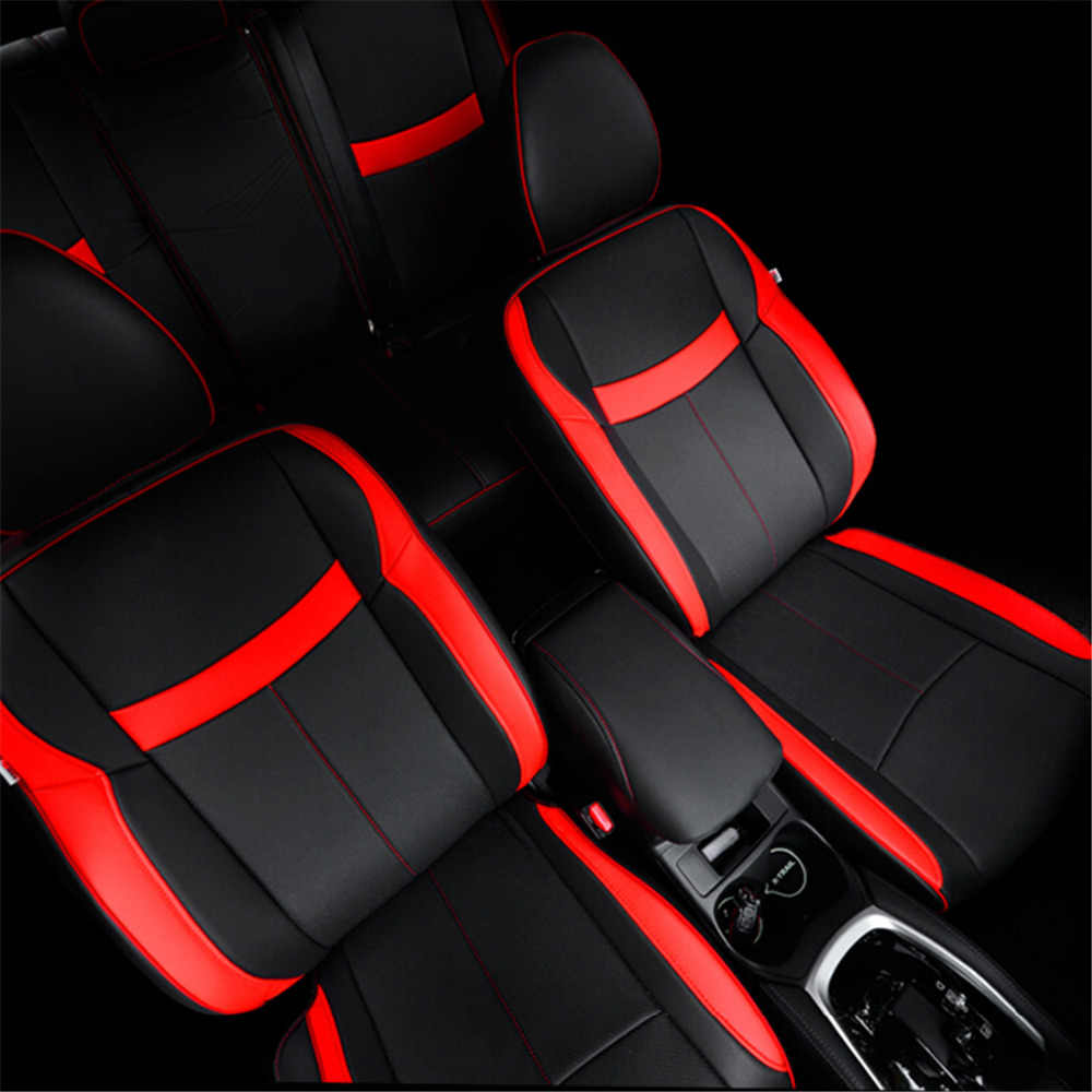Front Rear Seat Cover For Nissan Rogue X-trail T32 2014 2015 2016 Pu  Leather Safety Airbag Car Seat Cover For X-trail 2017 2018