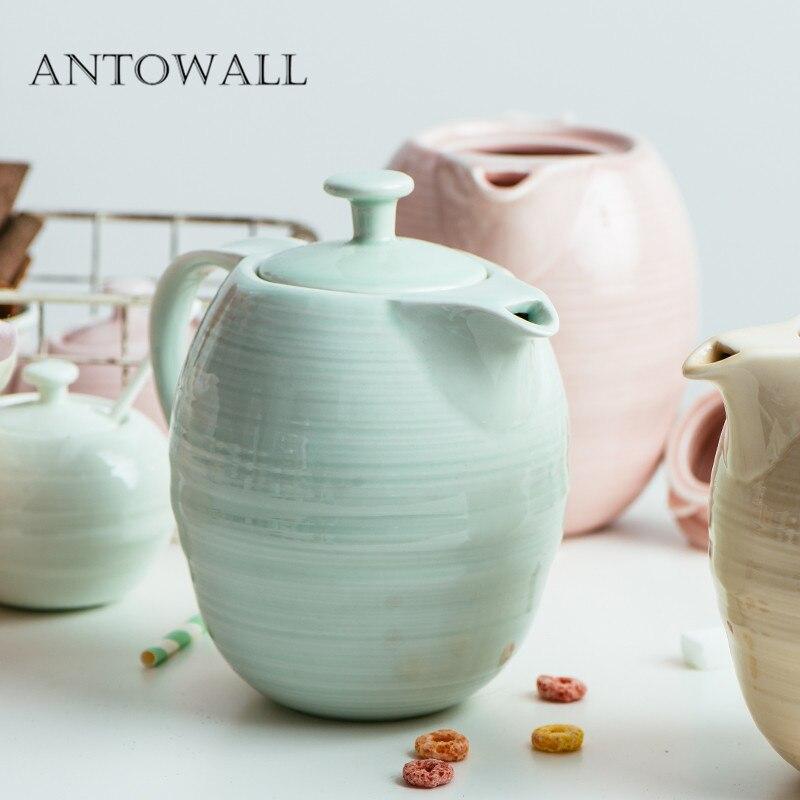 ANTOWALL style nordique grand café en céramique main poinçon pot après-midi thé théière bouilloire froide ustensiles à boire Posy town