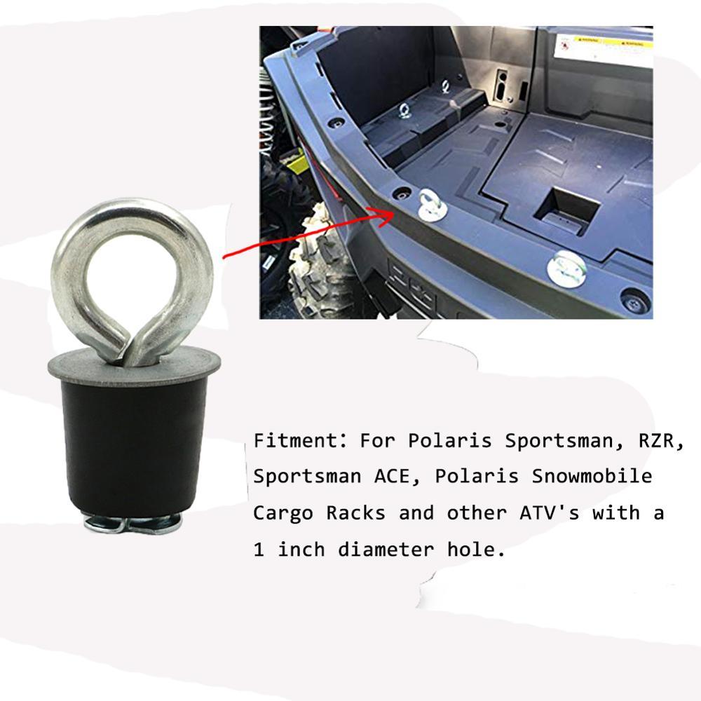 UTV ATV Accessories 4/5/6 PCS Tie Down Anchor Tie Downs Anchors Eye Bolt Fasteners For Polaris RZR 570 900 ZR S 900 800 1000 XP