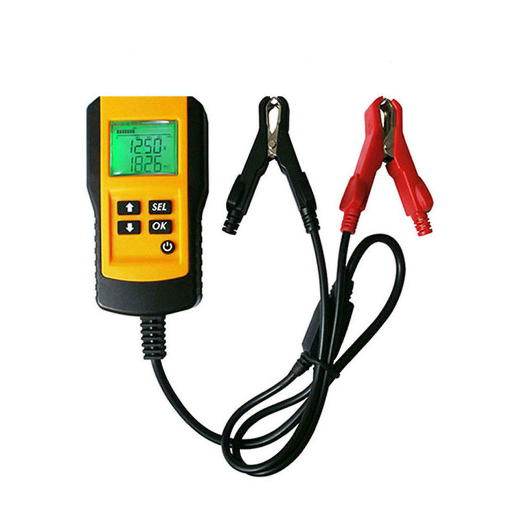 Hot Sale Professional High Accuracy Car Battery Analyzer Testing Tool For 12V Lead Acid Battery Tester With LCD Display Checker new 12v battery load display testing system tester alternator tool with clips