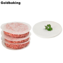 Goldbaking Round Parchment Paper Liners Safe For Oven and Electronic BBQ Grill Wax Paper Hamburger Patty Paper 500 Pack(China)