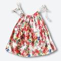 Летний новый хлопок погоны платье, бренд ребенка слинг платье принцессы, новорожденных девочек тонкий марли платье (9-24 месяцев)
