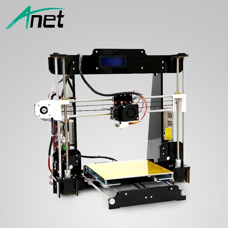 ANET 3d imprimante A8 Prusa i3 précision Facile Assembler BRICOLAGE 3D priinter Filament Kit 8 gb SD carte Russe Stock qualité elektronic