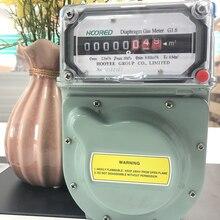 G1.6 алюминиевый корпус бытовой AC50Hz натуральный мембранный газовый счетчик