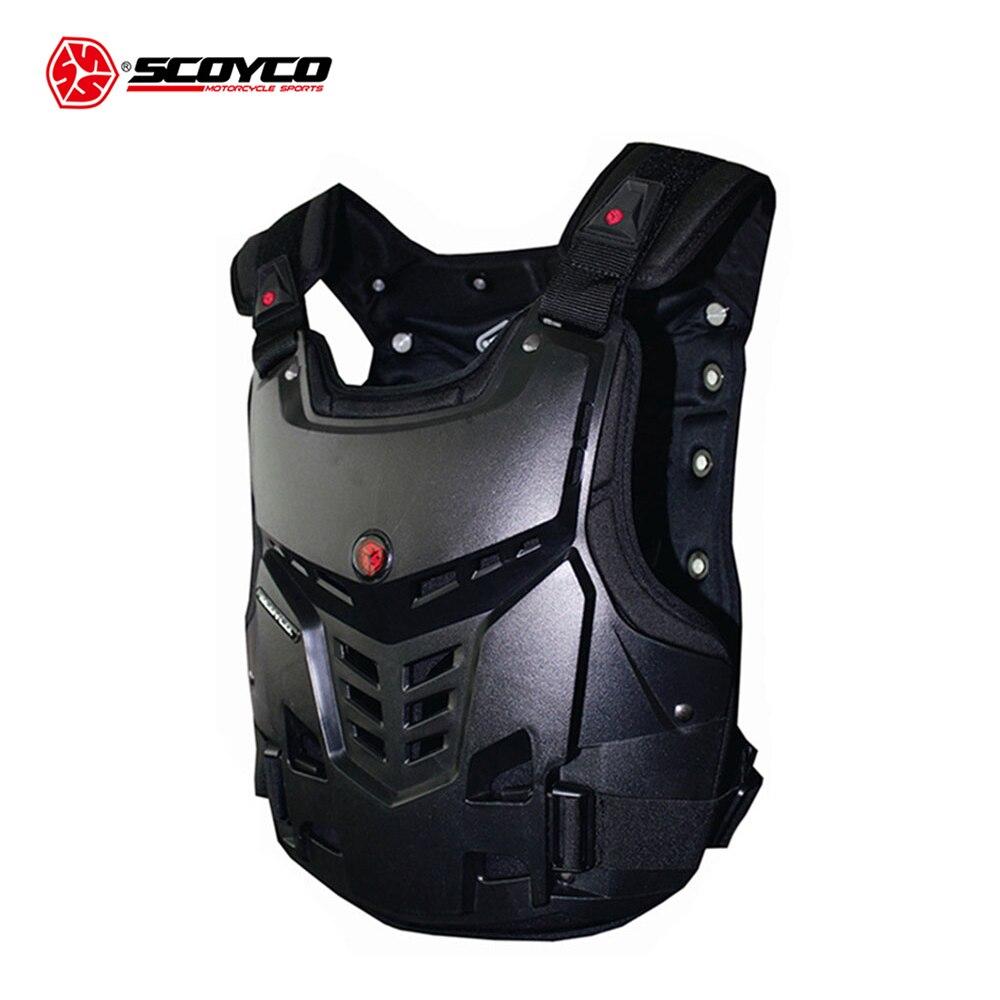 SCOYCO Motocross poitrine et dos protecteur gilet armure course protection corps-garde armure Motocross tout-terrain course gilet