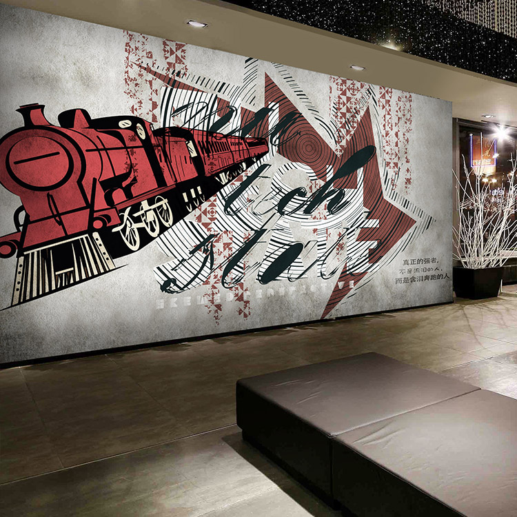 цены  Custom 3d mural Fashion wall graffiti wallpaper living room sofa dance room coffee shop mall clothing store wallpaper mural