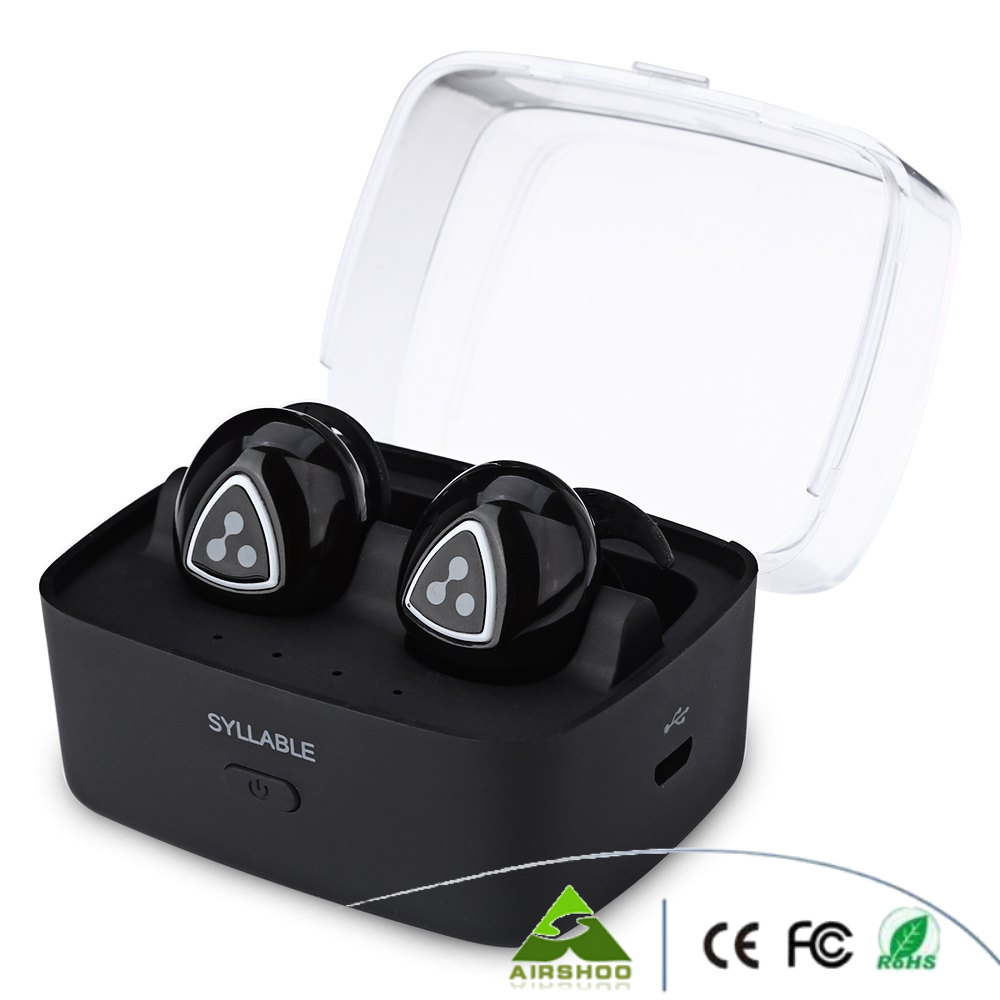 Syllable D900S Të dyfishtë Kufje Smart Smart Binaural Bluetooth 4.1 - Audio dhe video portative - Foto 5
